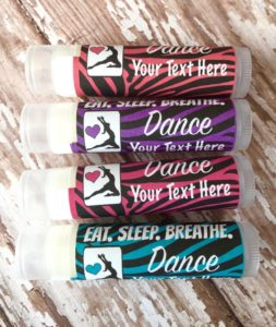 Custom dance lip balm