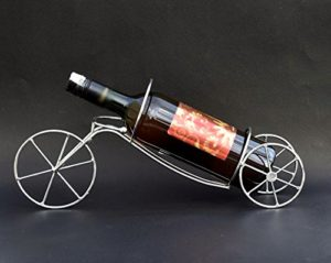 Cycle shaped wine bottle holder