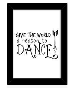 Dance Motivational Frame