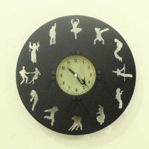 Dancer's Time wall clock