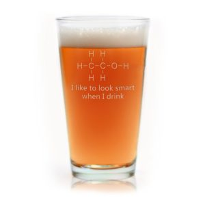 Engraved Chemistry of Alcohol Funny Pint Glass