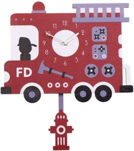 Fire truck clock