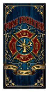 firefighter-beach-towel
