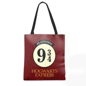 Harry Potter Hogwarts 9 3 4 Design Canvas Handbag