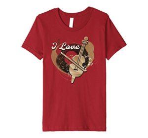I Love Violin Funny Musician T-Shirt