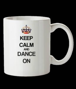 Keep calm and dance on coffee mug