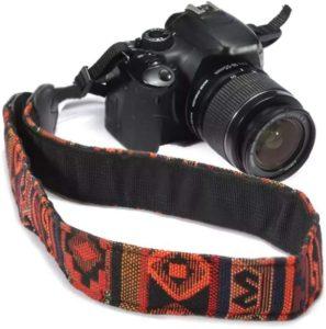 Monogram customized camera strap