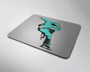 Mouse pad with dancer theme