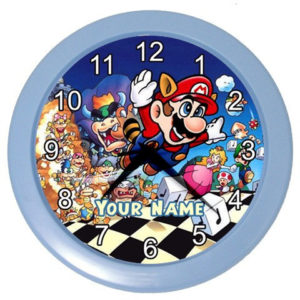 personalized-super-mario-wall-clock
