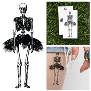 tiny-dancer-skeleton-temporary-tattoo