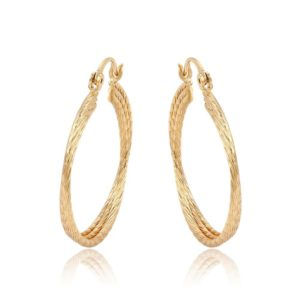 xuping-18k-gold-plated-hoop-earrings-for-women