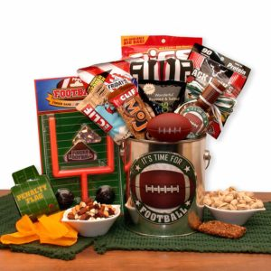 Snacks and games gift basket