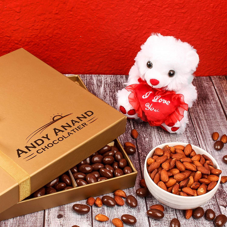 Teddy Chocolate Basket