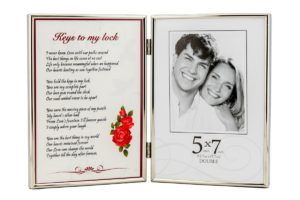Romantic Poem and Picture Double Photo Frame
