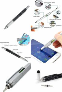 Tech-Tool Pen - With Screwdriver, Ruler and Spirit Level