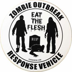 Zombie Car Sticker