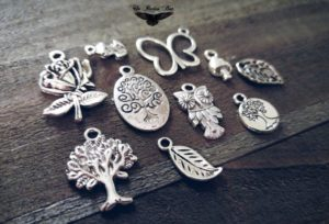 Assorted silver charms