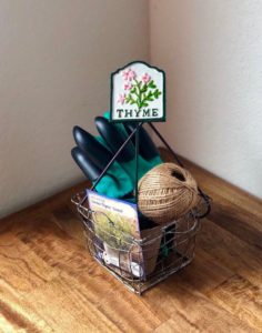 Gardening gift basket