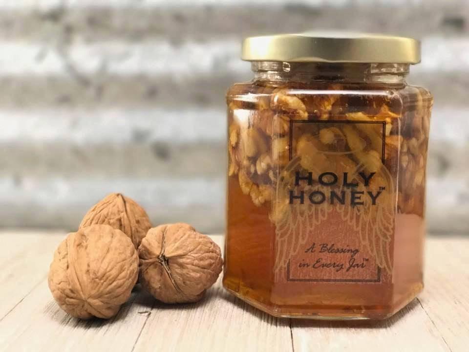 Raw Honey and Walnuts