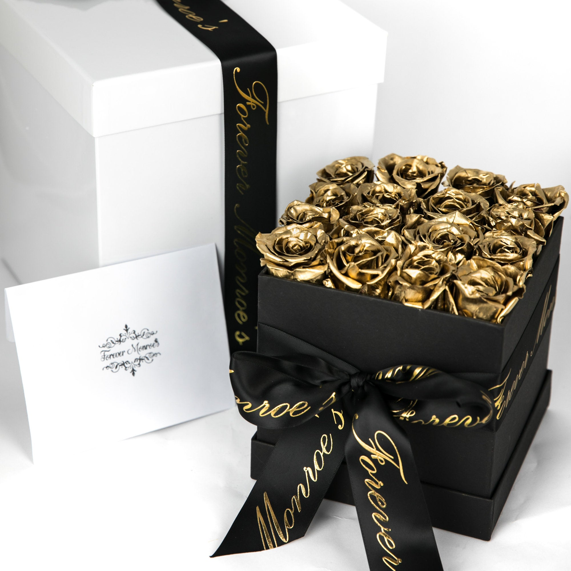chocolate and gold gift box