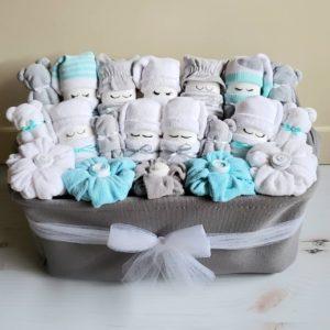 Baby diaper gift basket