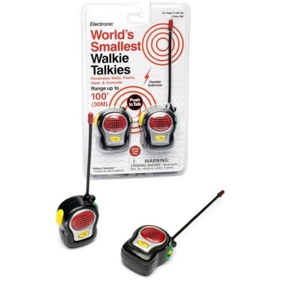 World's smallest walky talkies