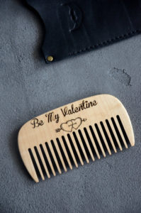 Valentine Beard Hair Comb