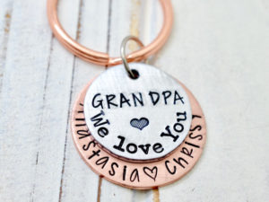A personalized keychain