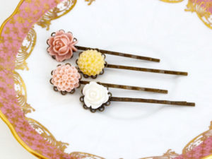 Beautiful hair pins for her