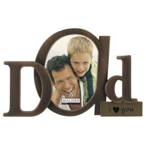 Bronze Script Dad Picture Frame