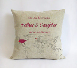 Father daughter cushion