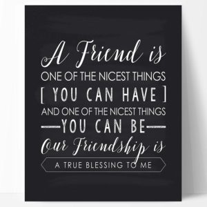 Friendship Quote Print