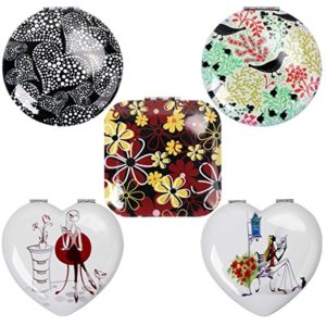 Set of compact makeup mirrors