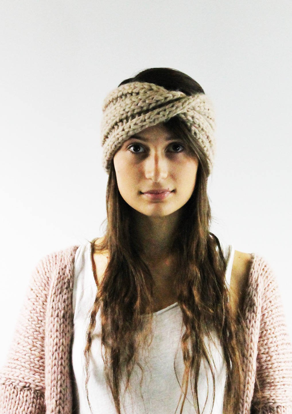 Knit woolen headband
