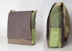 A canvas shoulder bag
