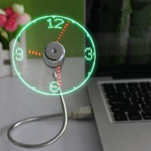LED Clock Fan
