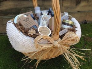 Pampering products basket