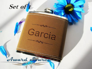 Personalized six ounce flask
