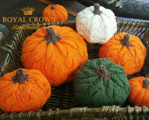 Stuffed pumpkin decor item