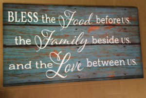 Wood sign Canvas Art