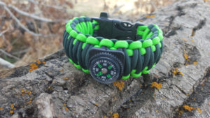 Fishing kit with survival bracelet