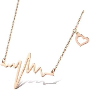 Necklace with the heartbeat