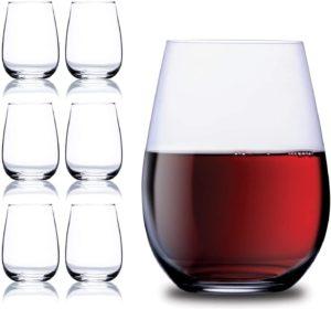 Stem less wine glass