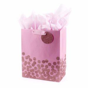 Reindeer Glitter Small Gift Bag