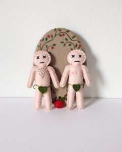 Adam and Eve mini dolls