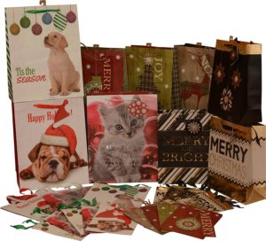 Animal Prints Christmas Gift Bags