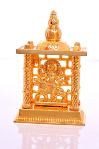 Brass Gold Plated Maa Durga Mandir
