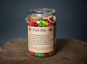 Chill Pill SPOUSEMARRIED Glass Apothecary Jar