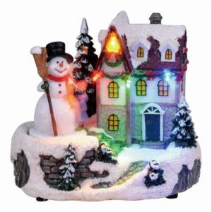 Christmas LED house musical sculpture