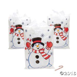 Christmas Snowman Gift Bags